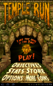 temple run accueil