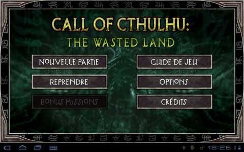 call of cthulhu accueil
