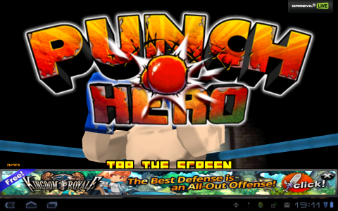 punch hero accueil