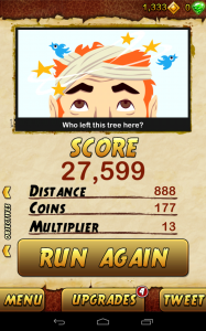 temple run 2 end