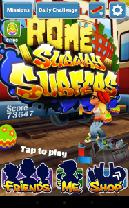 Subway Surfers accueil 2